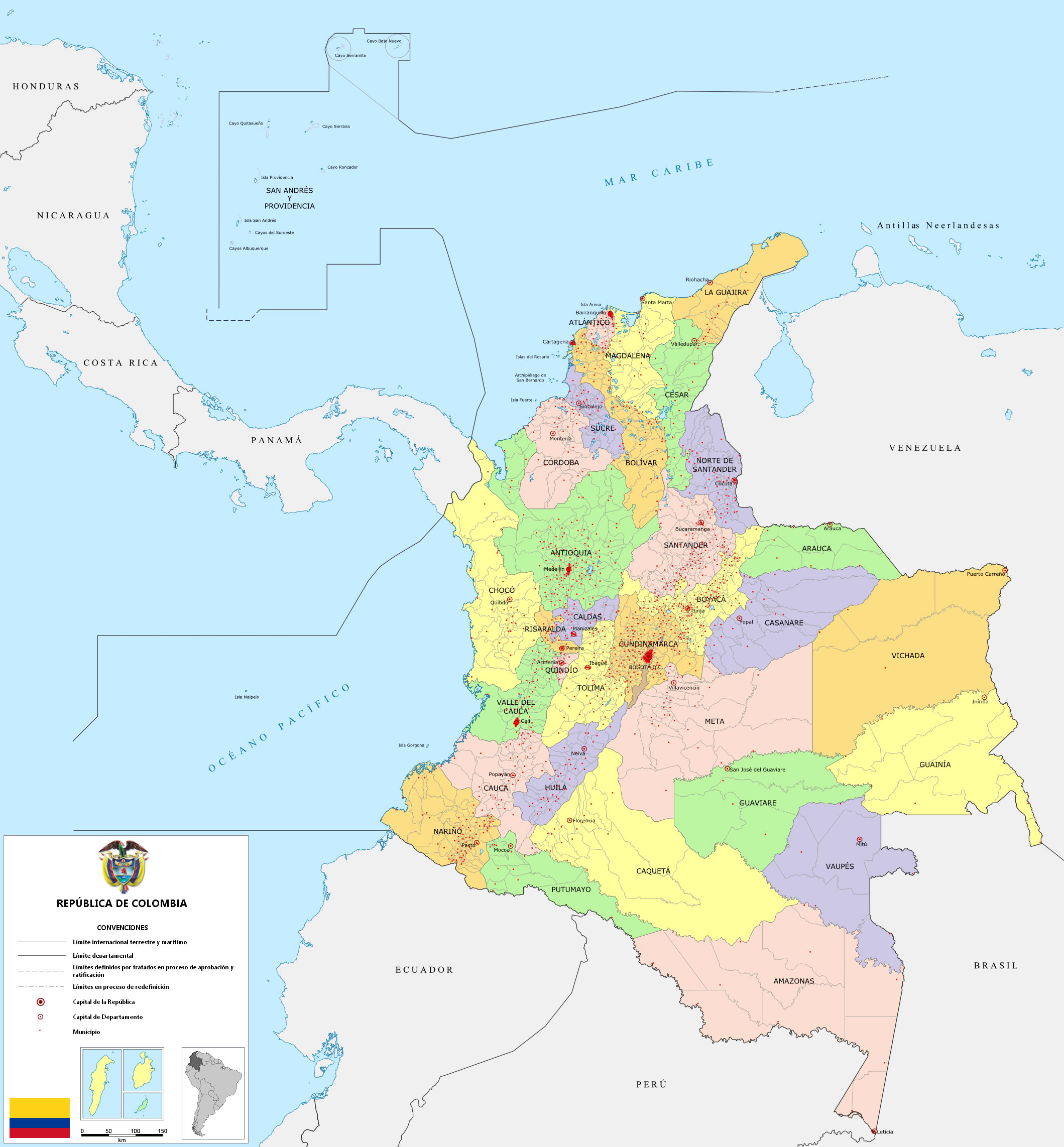 Political-map-of-Colombia-2009.jpg MAPA DE COLOMBIA